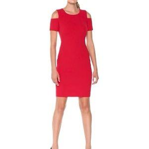 New Tommy Hilfiger Scuba Crepe Cold Shoulder Dress